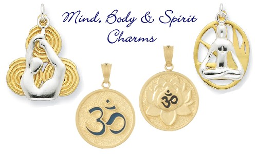 Yoga charms sports activities charms 14k gold and silver yoga charms mozeypictures Images