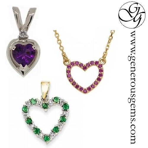 Gemstone Heart Jewelry