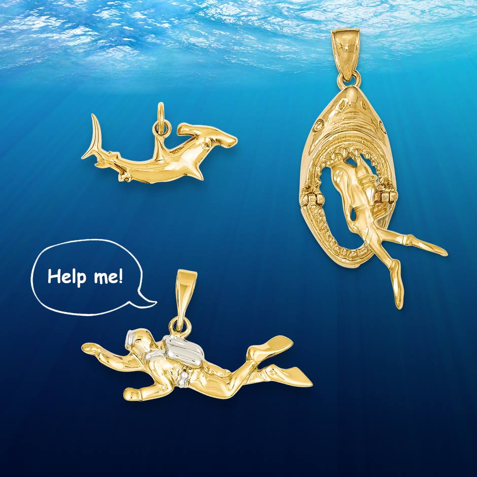 Shark and diving jewelry