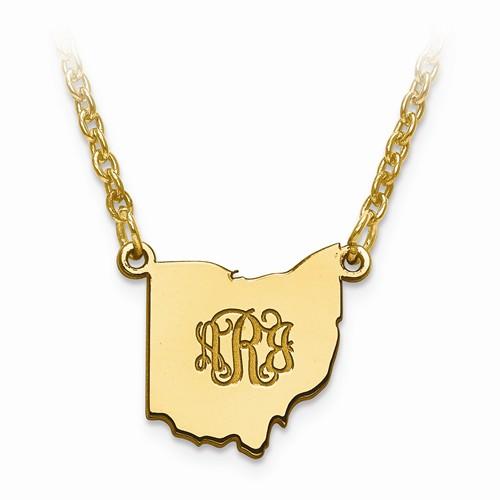 State monogram necklace