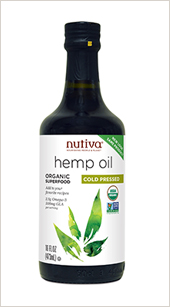 • Organic Cold-Pressed Hemp Oil