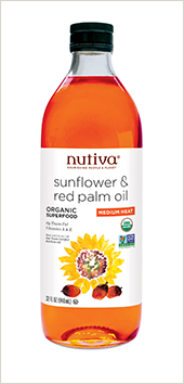 NEW! • Organic Sunflower and Red Palm Oil Blend