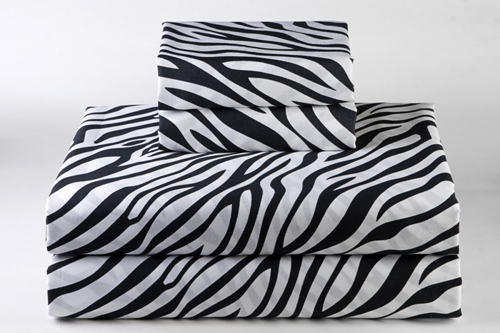 Wild Thing Black Zebra Twin XL Sheet Set Sin In Linen from sininlinen.com