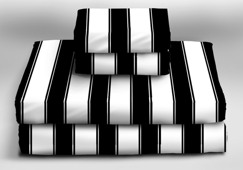 Big Top Stripes Sheet Sets  - Sin In Linen :  sheet sets black and white bedding sin in linen